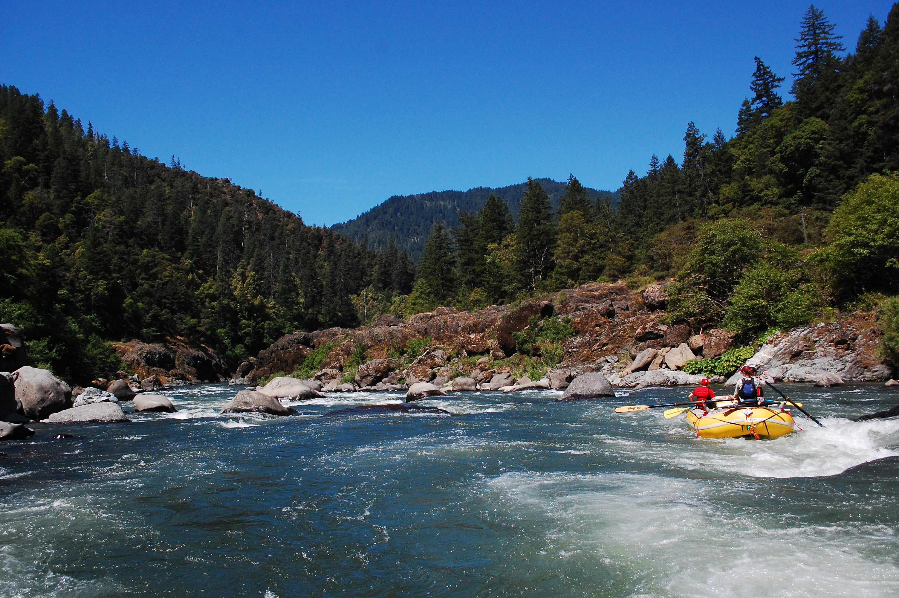 Getting through Blossom Bar, Rogue River